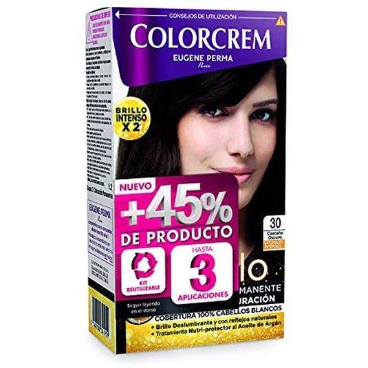 colorcrem original tinte permanente nº 30 castaño oscuro +45% producto
