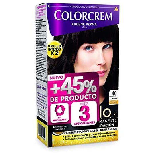 colorcrem original tinte permanente nº 40 castaño +45% producto