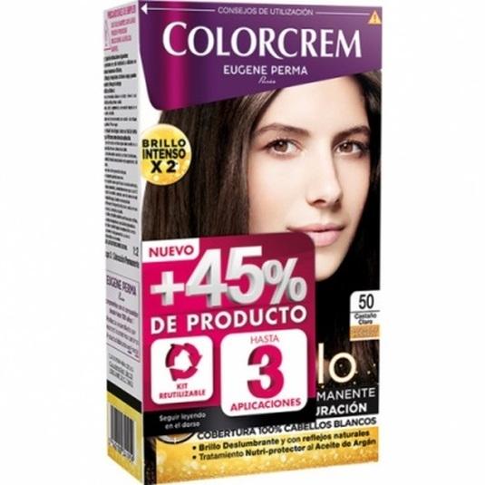 colorcrem original tinte permanente nº 50 castaño claro +45% producto