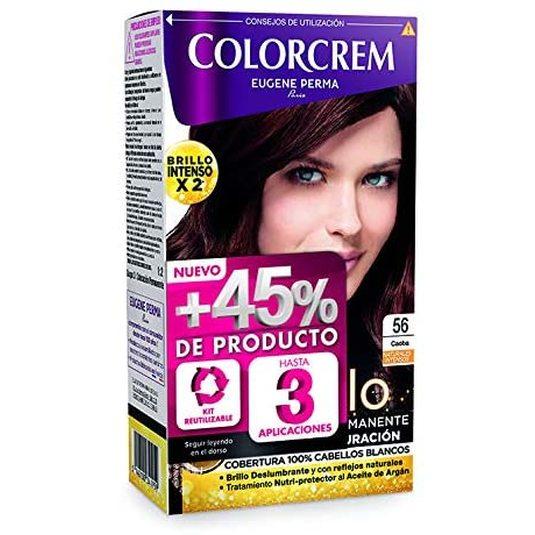 colorcrem original tinte permanente nº 56 caoba +45% producto