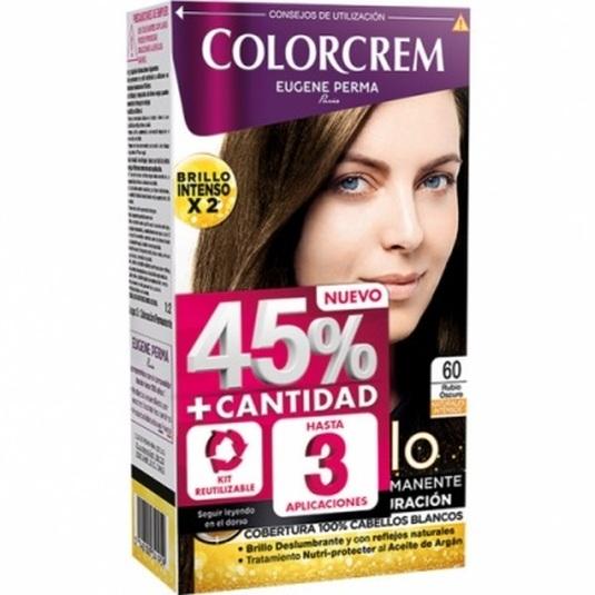 colorcrem original tinte permanente nº 60 rubio oscuro +45% producto