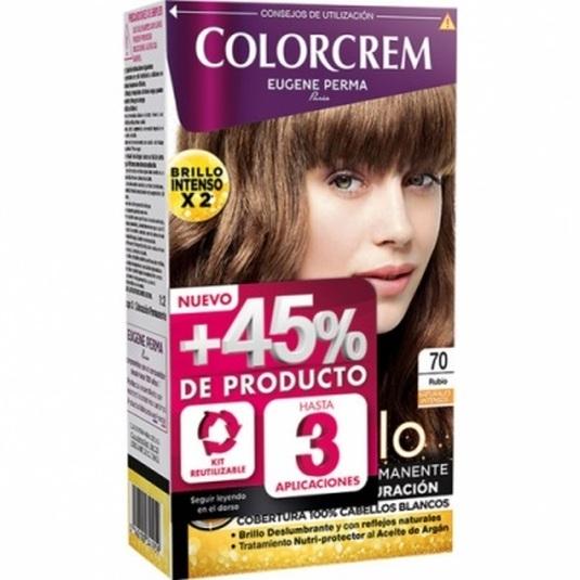 colorcrem original tinte permanente nº 70 rubio +45% producto