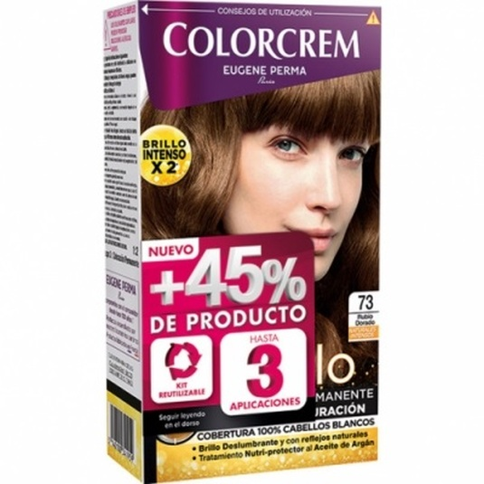 colorcrem original tinte permanente nº 73 rubio dorado +45% producto