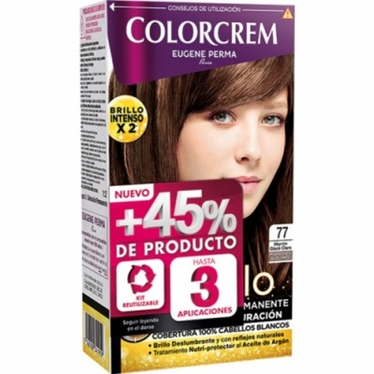 colorcrem original tinte permanente nº 77 marron glase claro +45% producto