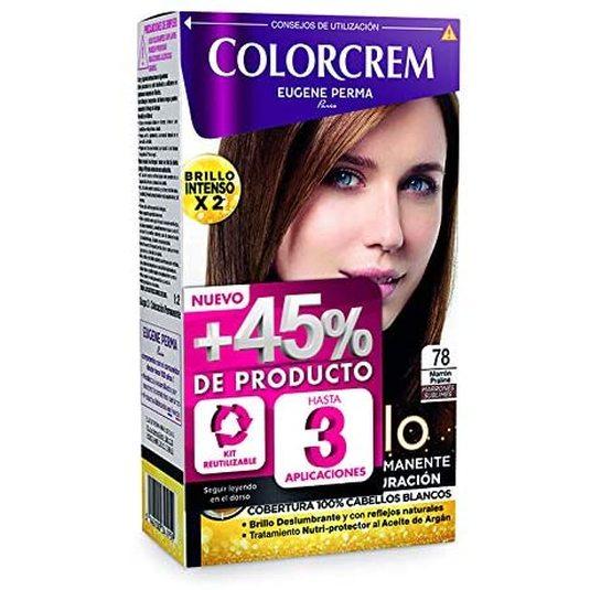 colorcrem original tinte permanente nº 78 marron praline +45% producto