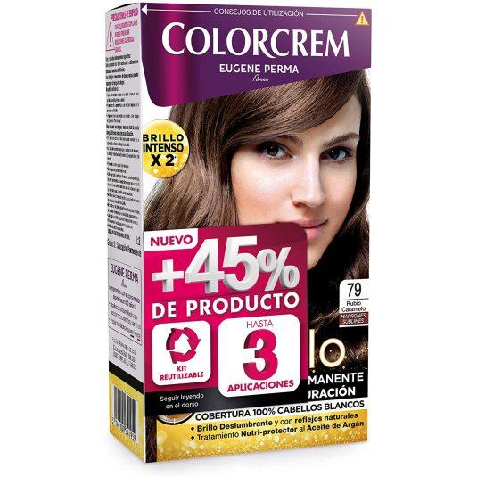 colorcrem original tinte permanente nº 79 rubio caramelo +45% producto