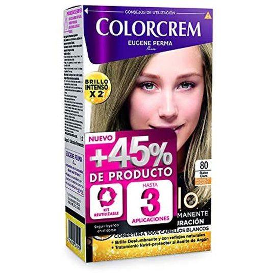colorcrem original tinte permanente nº 80 rubio claro +45% producto