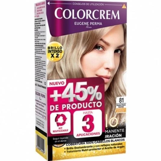 colorcrem original tinte permanente nº 81 rubio claro ceniza +45% producto
