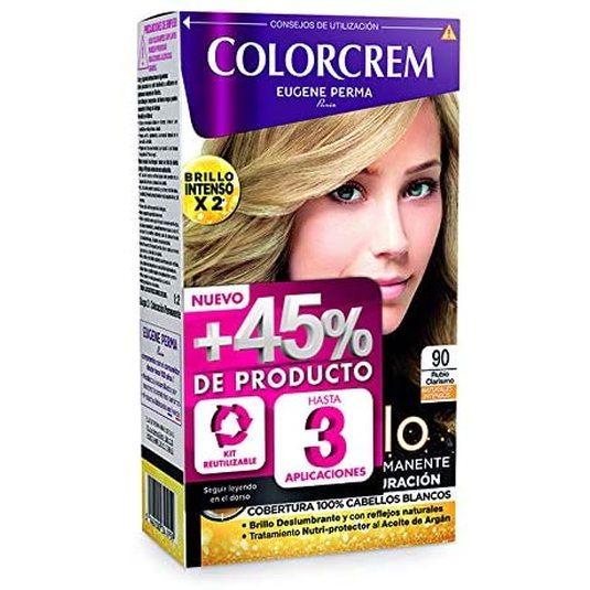 colorcrem original tinte permanent nº 90 rubio clarisimo +45% producto