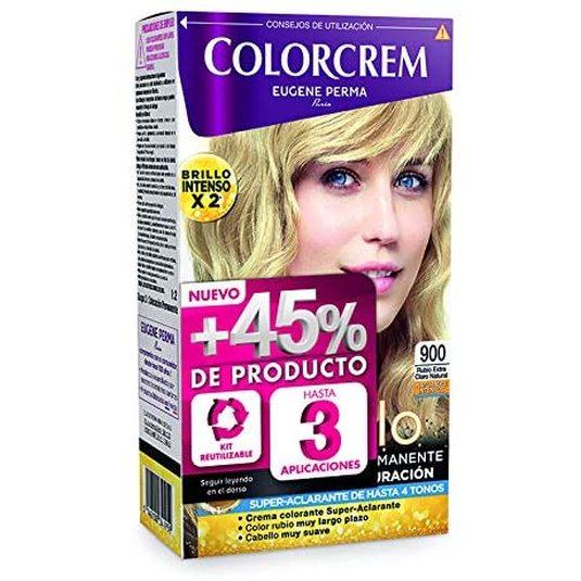 colorcrem original tinte permanente nª 900 rubio extra claro +45% producto