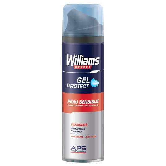 williams expert protect gel afeitar piel sensible