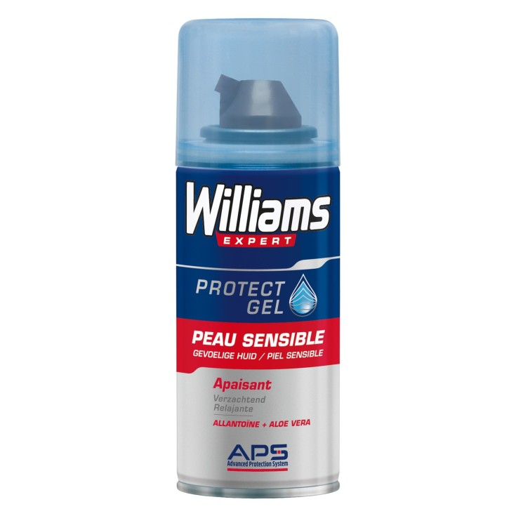 williams protect mini gel de afeitar 75ml