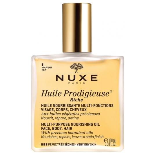 nuxe huile prodigieuse riche aceite pieles secas rostro-cuerpo-cabello 100ml