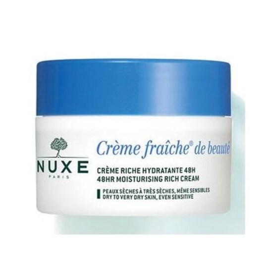 nuxe creme fraiche de beaute crema facial hidratante 48h tarro piel seca 50ml