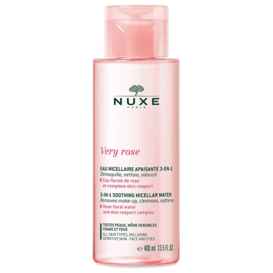 nuxe very rose agua micelar calmante 3en1 400ml