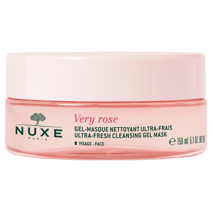 nuxe very rose gel-mascarilla limpiadora ultra-fresca 150ml