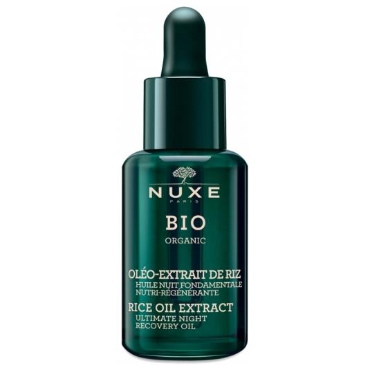 nuxe bio organic aceite de noche oleo-extracto de arroz nutri-regenetante 30ml