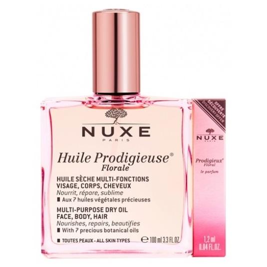 nuxe huile prodigieuse florale 100ml + floral le parfum 1,2ml regalo