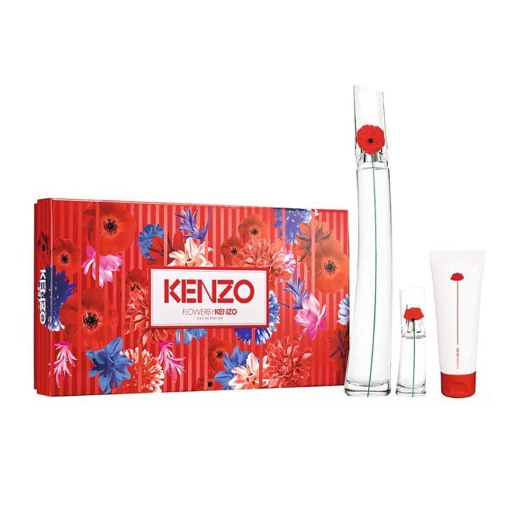 kenzo flower by kenzo eau de parfum 100ml cofre regalo 3 piezas