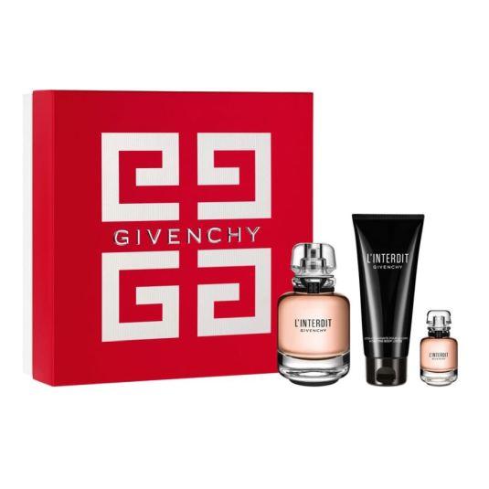 givenchy l'interdit eau de parfum 80ml cofre regalo 3 piezas