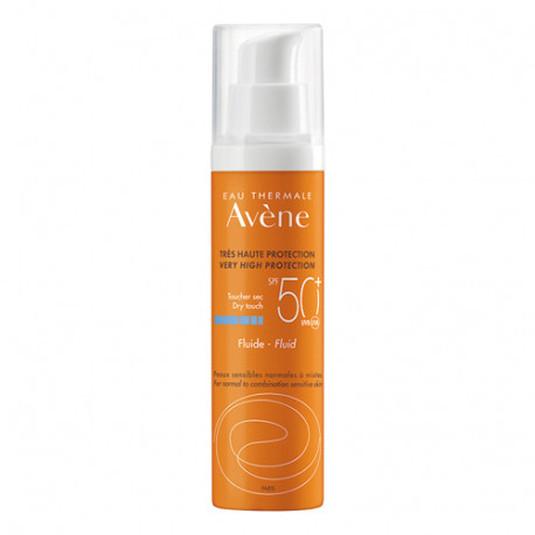 avène solar fluido protector facial spf50+ free oil 50ml