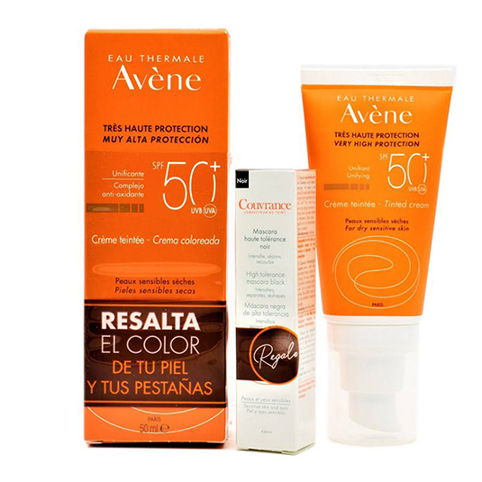 avene protector solar spf50+ con color 50ml + regalo