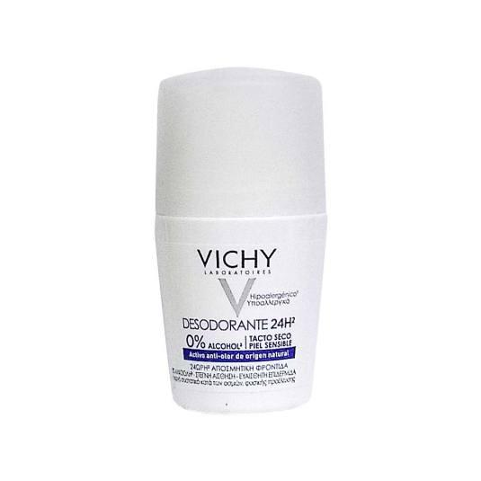 vichy desodorante sin sales de aluminio 24h roll-on 50g