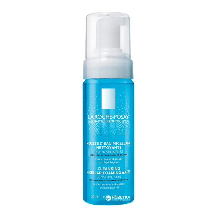 la roche-posay mousse espuma de agua micelar limpiadora pieles sensibles
