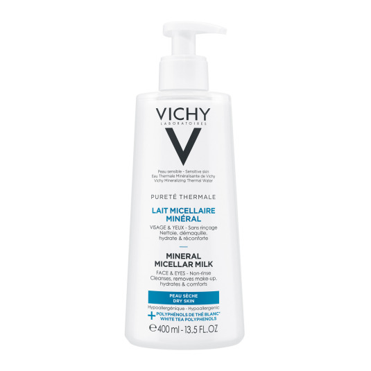 vichy purete thermale leche micelar piel seca 400ml