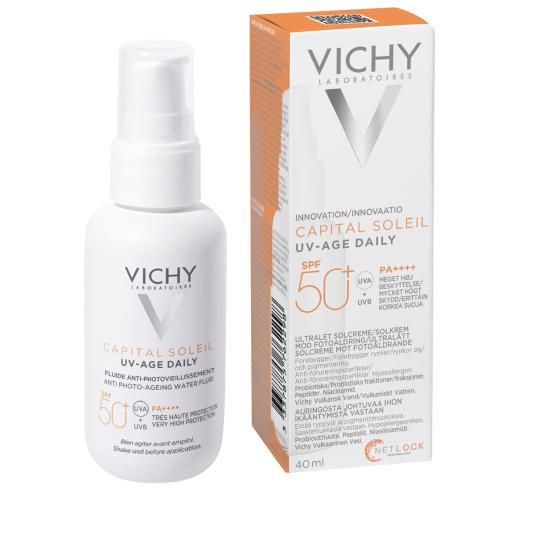 vichy capital soleil uv-age daily spf50+ fluido solar rostro antienvejecimiento 40ml