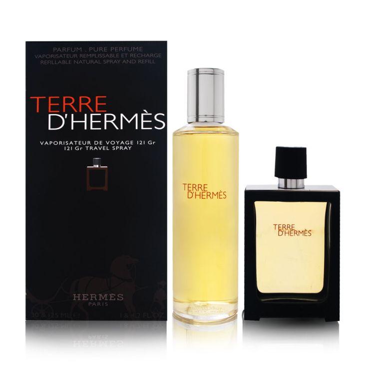 terre d hermes eau de parfum 30ml + recarga 125ml