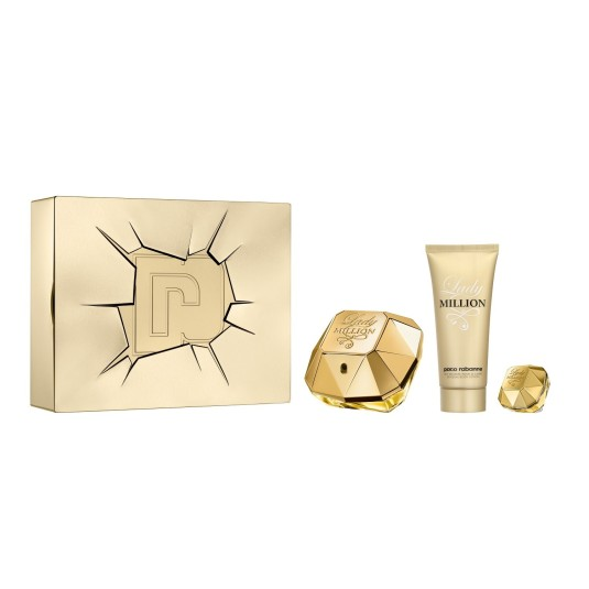 PACO RABANNE LADY MILLION EAU DE PARFUM 80ML COFRE 3 PIEZAS
