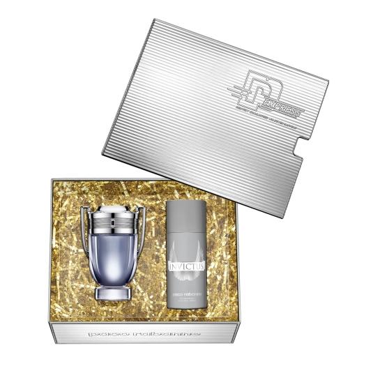 paco rabanne invictus eau de toilette cofre regalo 2 piezas