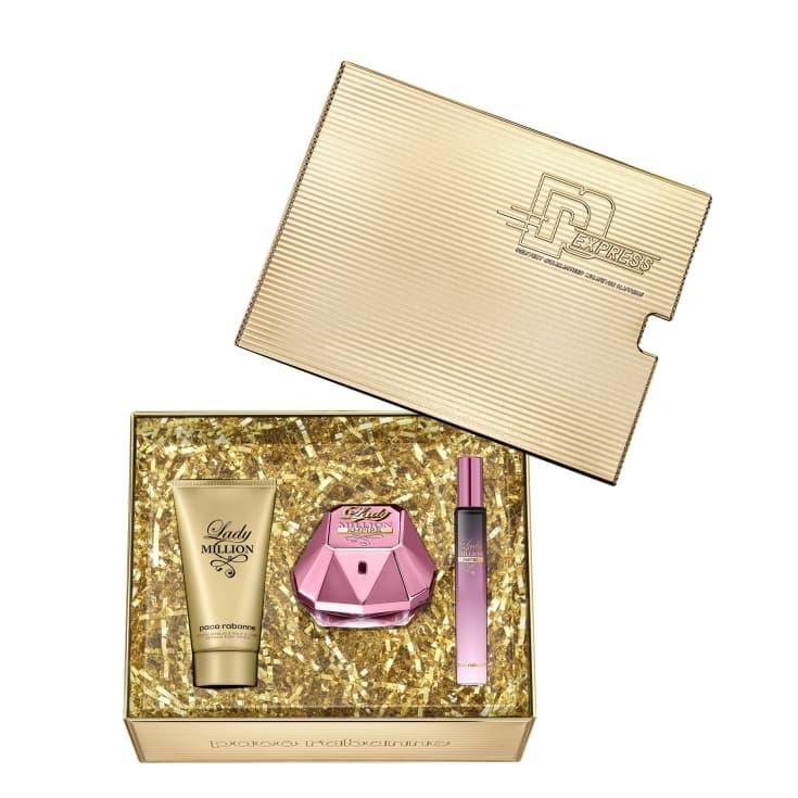 paco rabanne lady million empire eau de parfum cofre regalo 3 piezas