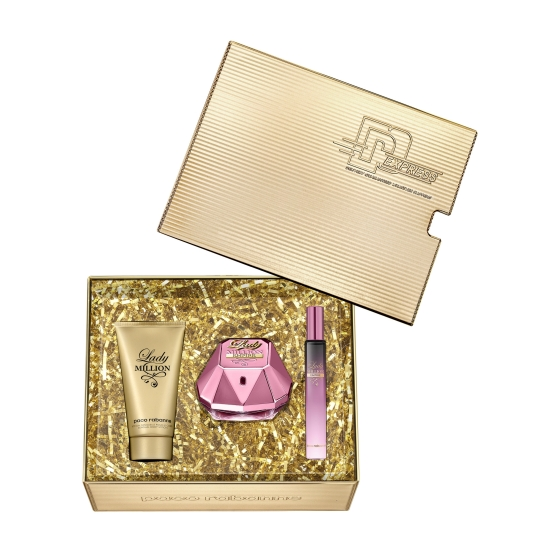 paco rabanne lady million empire eau de parfum cofre regalo 3 piezas