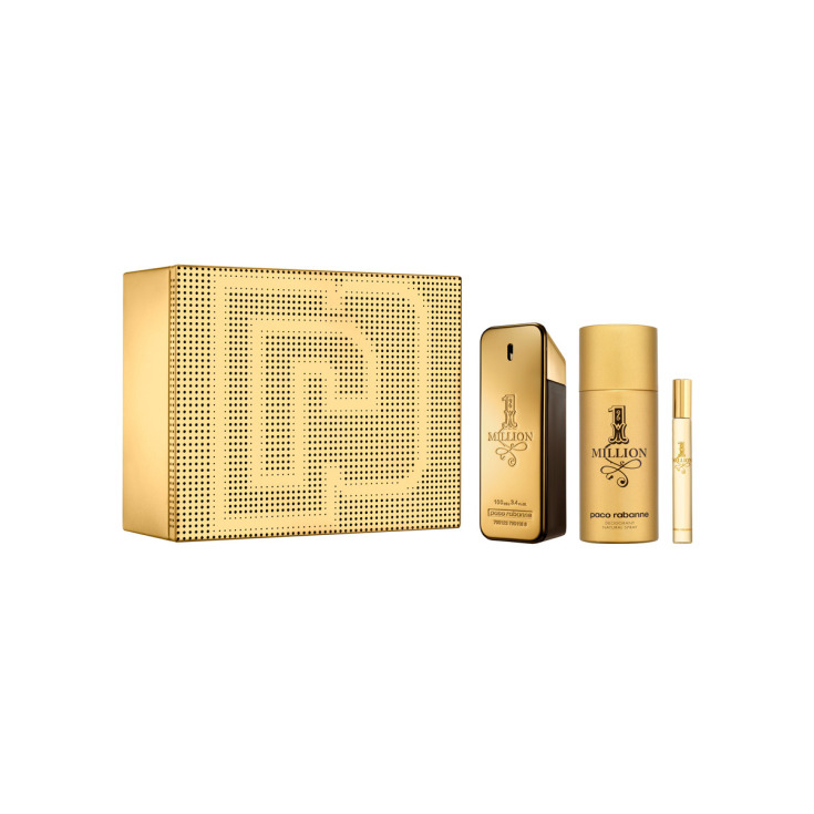 paco rabanne 1 million eau de toilette cofre regalo 3 piezas