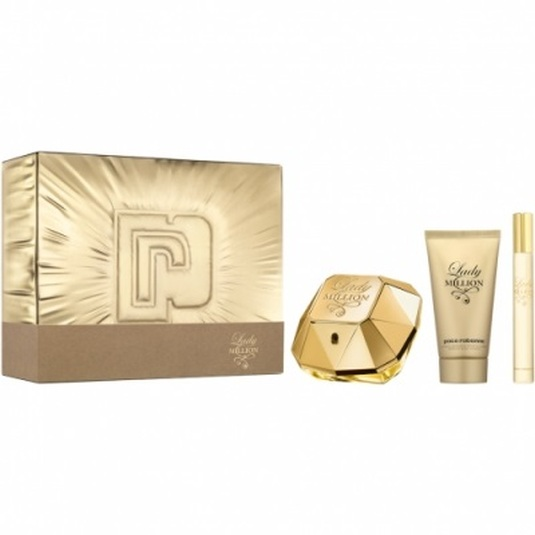 paco rabanne lady million edp 50ml cofres 3 piezas