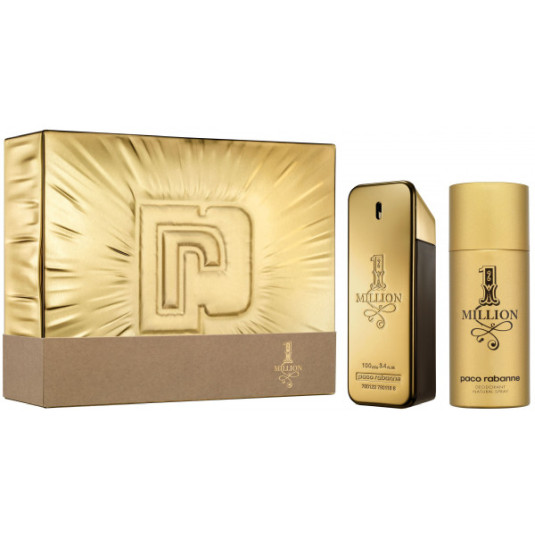 paco rabanne one million edt 100ml cofre 2 piezas