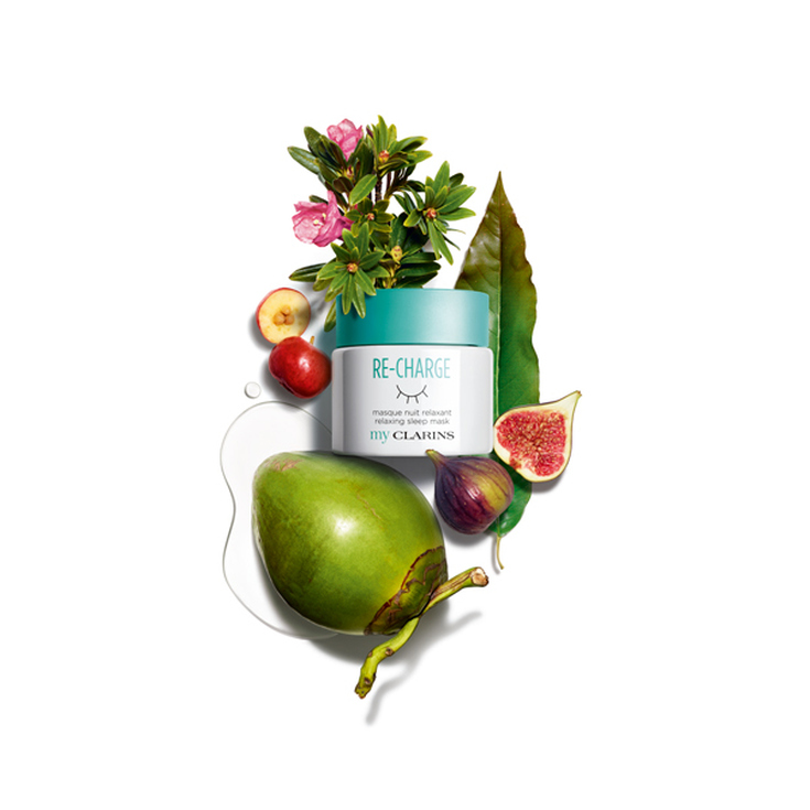 my clarins re-charge mascarilla noche nutritiva y relajante 50ml