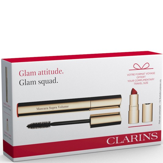 clarins supra volume máscara de pestañas set