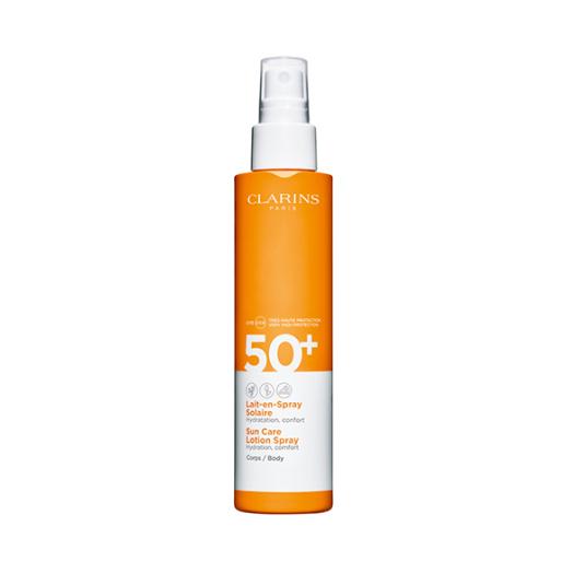 clarins leche solar corporal hidratante spray spf50+ uva/vb 150ml
