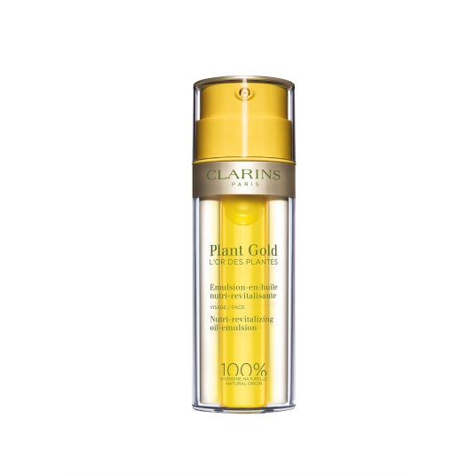 clarins plant gold l'or des plantes emulsión aceite nutritiva facial