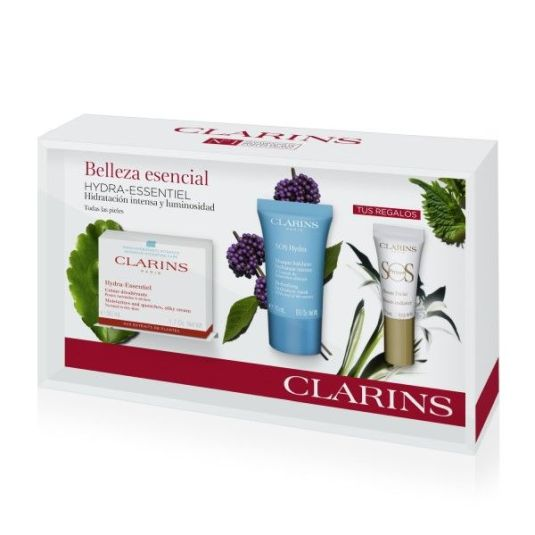 clarins hydra-essentiel crema día set regalo 3 piezas