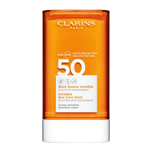 clarins solaire invisible protector solar facial en stick spf50+ 17g