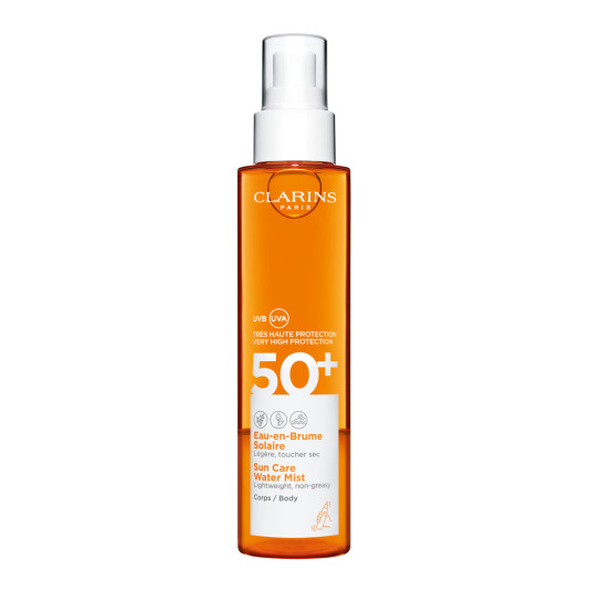 clarins l'eau-en-brume solaire bruma protectora corporal spf50+ 150ml