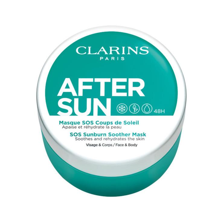 clarins after sun suncare mascarilla facial refrescante e hidratante 100ml