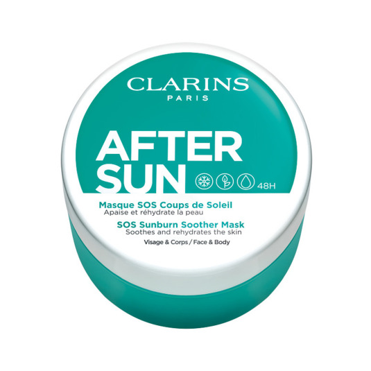clarins after sun suncare mascarilla facial refrescante e hidratante 100ml
