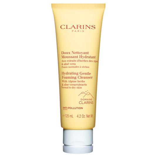 clarins espuma limpiadora facial hidratante con extractos hierbas de los alpes 125 ml