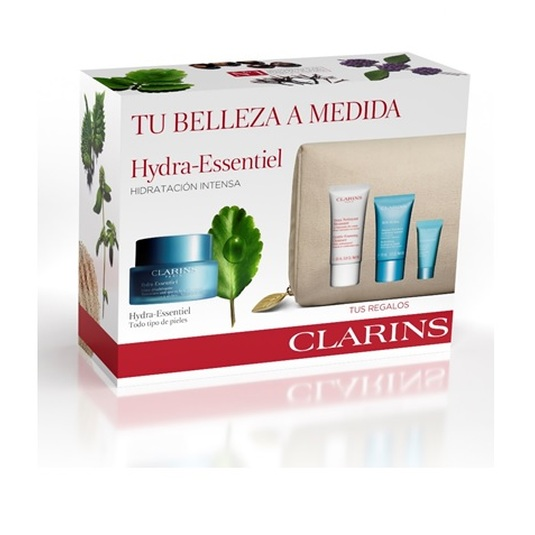 clarins hydra-essentiel crema dIa 50ml set regalo 4 piezas