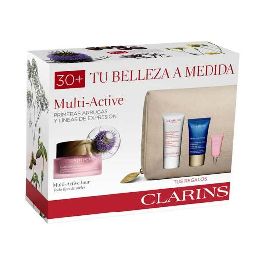 clarins experto multi-active todo tipo pieles 50ml set regalo